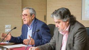 L'alcalde Alfredo Vega amb el tinent d'alcalde Amadeu Aguado