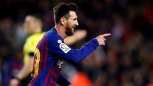 Leo Messi celebra el seu gol contra el Celta.