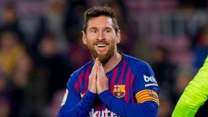 Leo Messi, durant el Barça-Llevant de la Copa del Rei.