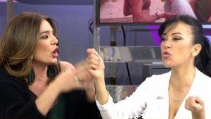 Maite y Raquel Bollo en plena discusión
