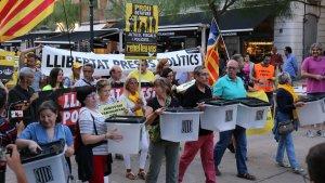 'Manifestació a Tarragona un any després de l'1-O'