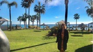 Mila Ximénez durante sus vacaciones