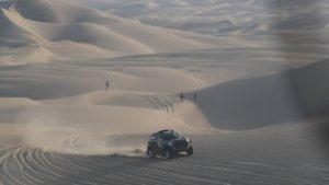 Nani Roma, durant la segona etapa del Dakar 2019.