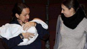 Pablo Iglesias disfruta de su baja por paternidad