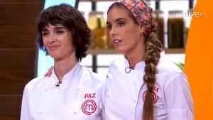 Paz Vega junto a Ona Carbonell en la final de 'MasterChef Celebrity 3'