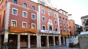 Pla general de la façana de l'Ajuntament de Tortosa
