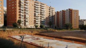 Terrenys i fonaments del que ha de ser el nou edifici del campus Catalunya de la URV