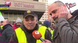 Tito Álvarez, representante de los taxistas, en su entrevista en 'Espejo Público'