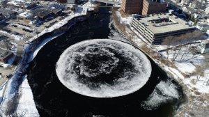 Un sorprenent cercle perfecte de gel ha aparegut aquesta setmana al nord-est dels Estats Units