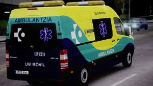 Una ambulancia en Vitoria