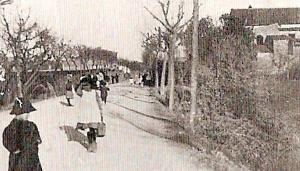 Una carretera de Terrassa l'any 1885