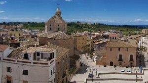 Una imatge d'arxiu del centre històric de Torredembarra.