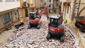 Vandellòs reurbanitza el carrer Major i la Plaça de l'Ajuntament