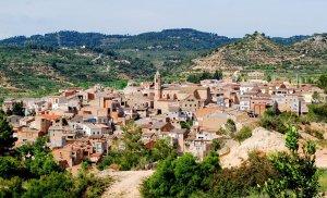 Vista del poble de Cervià de les Garrigues (Lleida)
