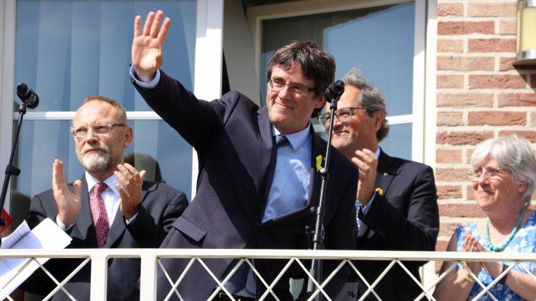 Carles Puigdemont, a Waterloo