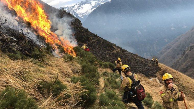 El foc es va iniciar diumenge dia 6 de gener.