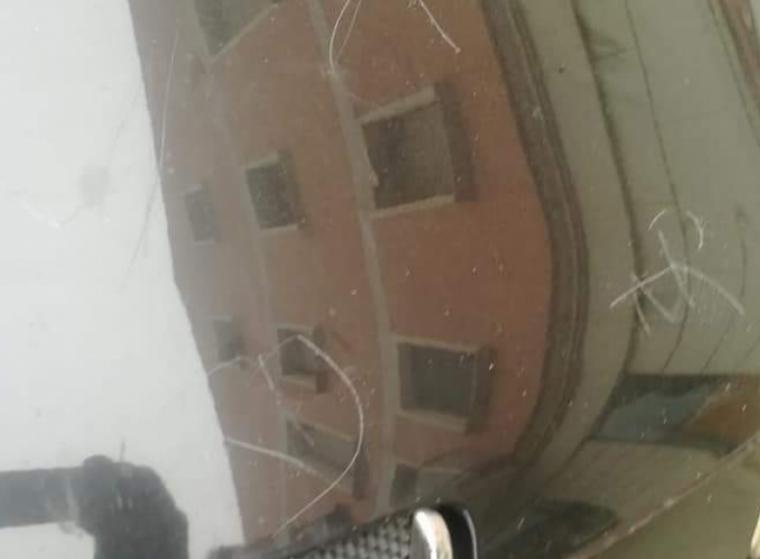 Imatge de les ratllades al cotxe