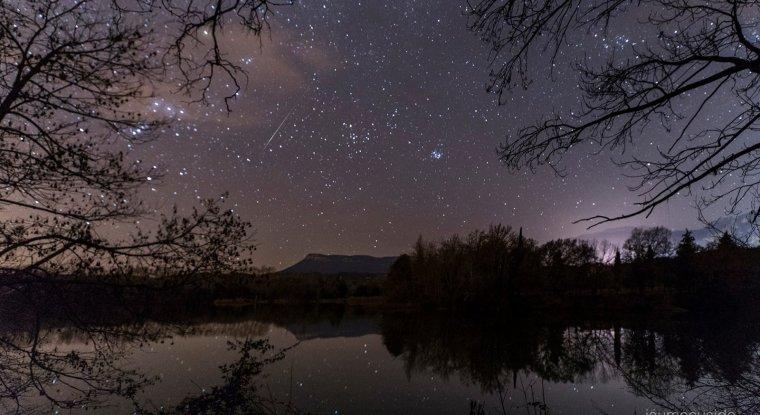 Meteor dels Quadrantids captat des del Berguedà