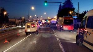 Accidente múltiple en Oviedo
