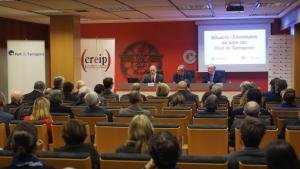Acte organitzat per Isaac Sanromà, president de la Cambra de Comerç de Reus, i Bernd Theilen, director del CREIP