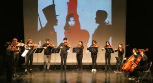 Alumnes de l'Escola de Música del Morell al Teatre-Auditori