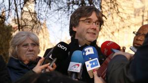 Carles Puigdemont fa una crida a la mobilització permanent en contra del judici