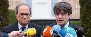 Carles Puigdemont i Quim Torra a Waterloo