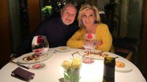Carmen Borrego y su marido de romántica celebración