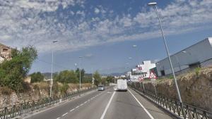 Carretera C-31 a l'entrada del Vendrell