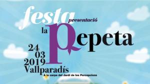 Cartell promocional de la presentació de la Pepeta