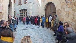 Concentració davant del Consell Comarcal de la Conca de Barberà.