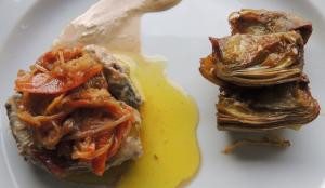 Confit de senglar i verdures en escabetx