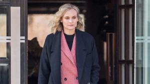 Diane Kruger vestida de Mango mientras camina por Berlín