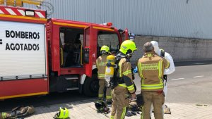 Efectivos del cuerpo de bomberos de La Rioja