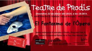 El cartell de 'Fantasma de l'Òpera', al Teatre Principal de Terrassa