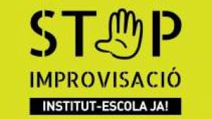 El cartell de protesta de l'Ampa Sala i Badrinas