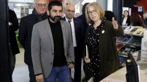 El conseller El Homrani, en la seva visita aquest divendres a Torredembarra.