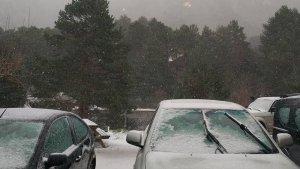 El massís dels Ports s'ha llevat avui dissabte amb vent, neu i baixes temperatures
