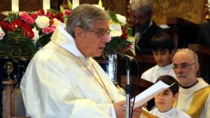 El Pare Abat, Josep Maria Soler, durant l'homilia d'aquest diumenge