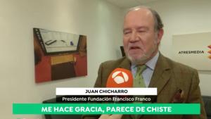 El president de la Fundació Francisco Franco, durant l'entrevista d'Antena3