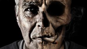 El rostro del fumador