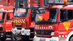 Els Bombers van treballar per extingir l'incendi.