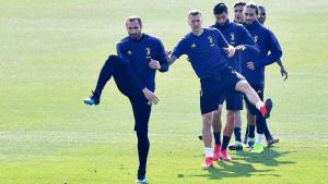 Els jugadors de la Juventus, en un entrenament.