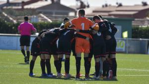Els jugadors del filial del Reus, abans d'un partit.
