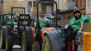 Els pagesos de l'avellana de Tarragona tornen a treure els tractors al carrer per reclamar a l'Estat ajudes al sector