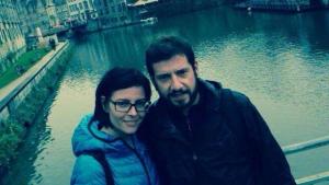 Els periodistes tarragonins Sergi Casado i Mar Cirera