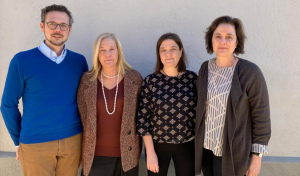 Els quatre fills d'Antoni Mestres Sagués: Josep, Lali, Maria i Montse