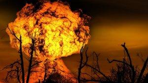 Es refereix Parravicini a una explosió nuclear quan parla del 'monstre de matèria'?
