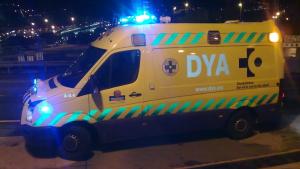 Foto de una ambulancia en Bilbao