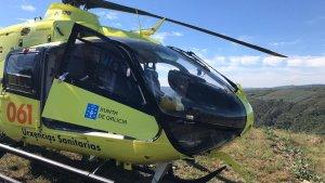 Helicóptero del 061 de Emergencias de Galicia.